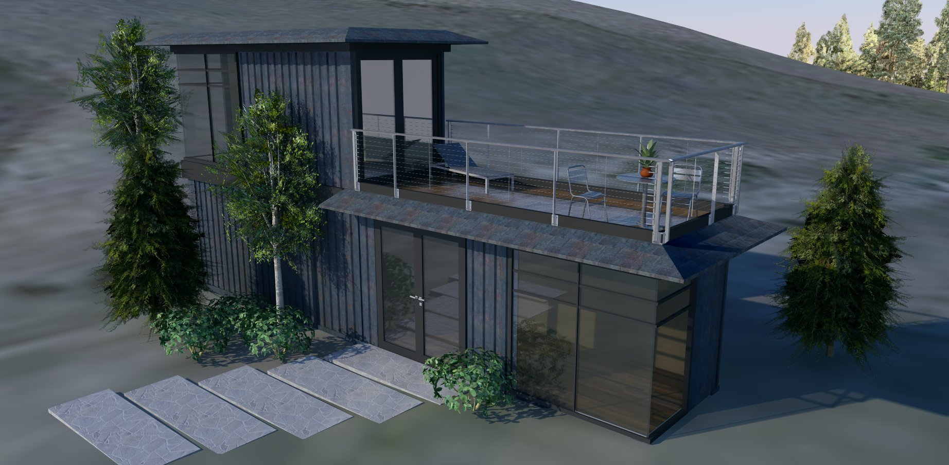 MODS Two Story Shipping Container Home