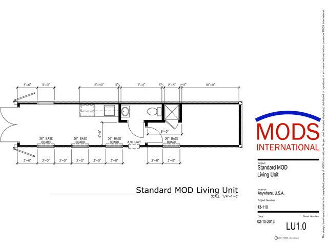 Standard MODS One Bedroom Shipping Container House