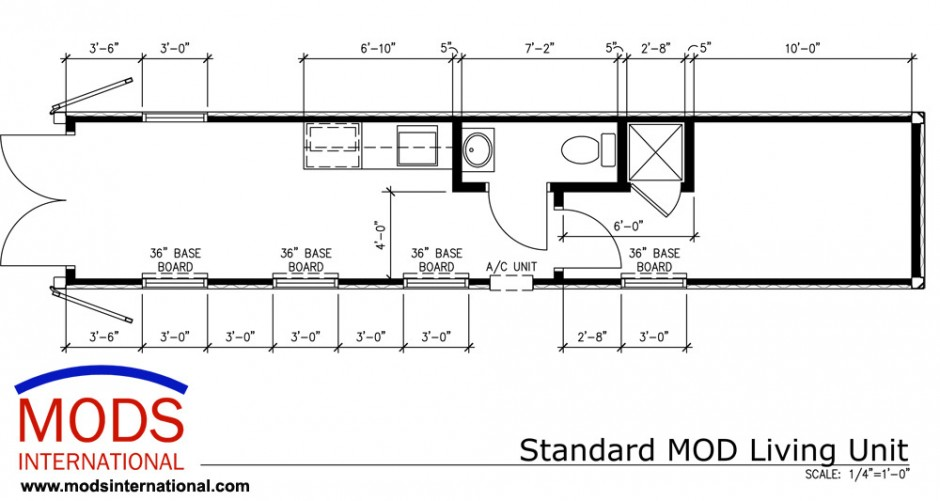 Standard MODS Shipping Container House