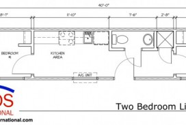 MODS Two Bedroom Living Unit Floor Plan