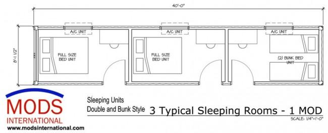 MODS Three-Bedroom Unit Floor Plan