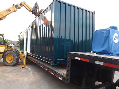 Moving Shipping Container Bathroom