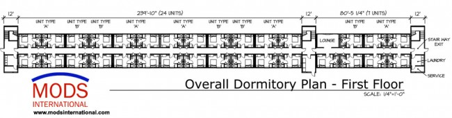 Dormitory Housing Floor Plan Mods International