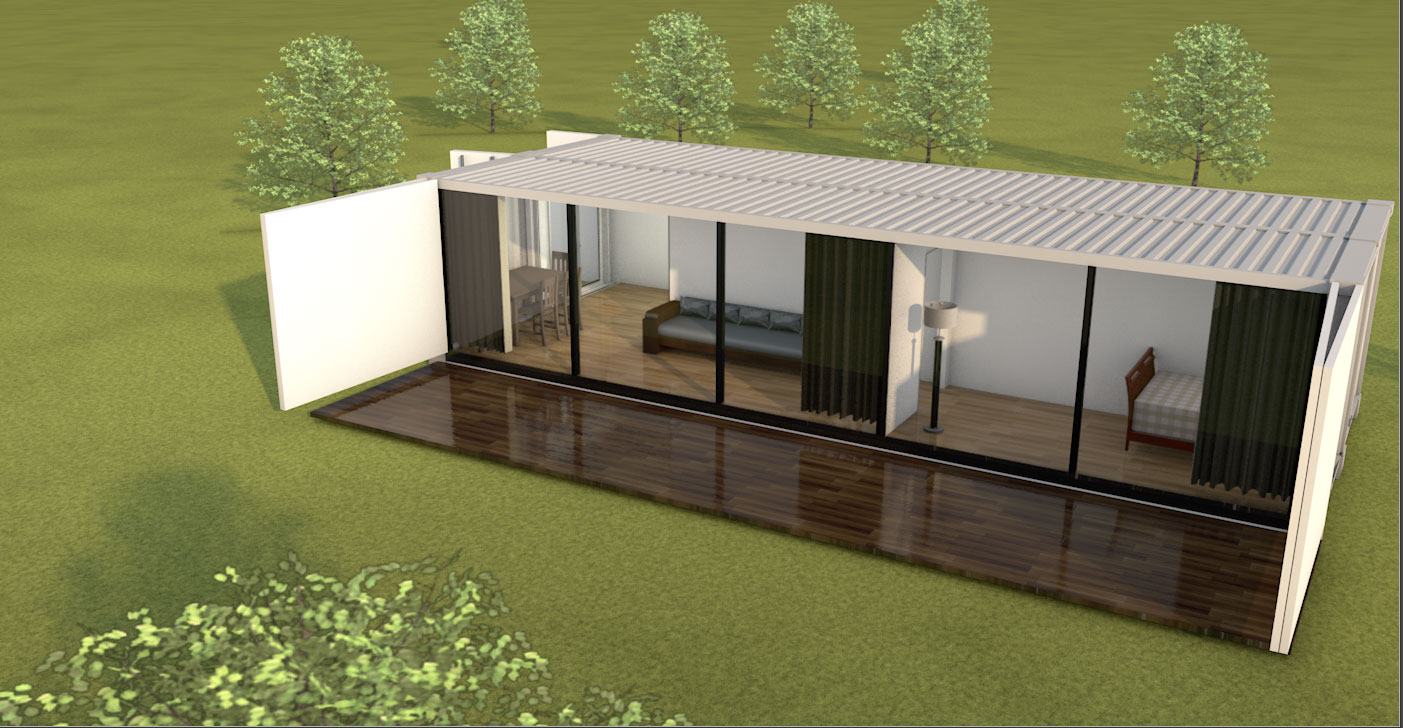 MODS Double Wide Container Home Design