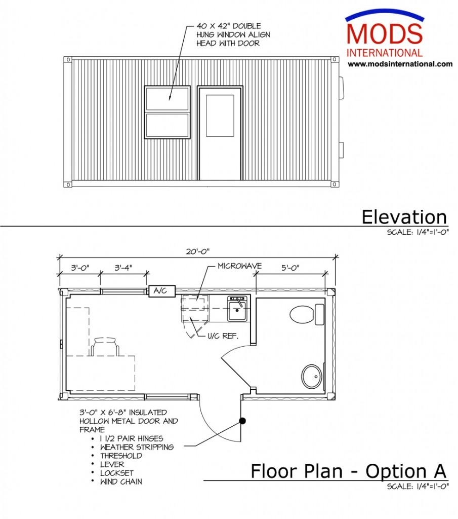 MODS Hangar Office Floor Plan