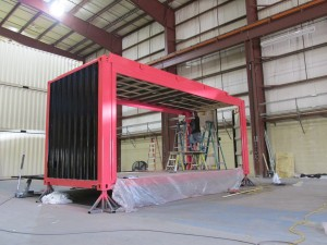 Shipping Container Display Build