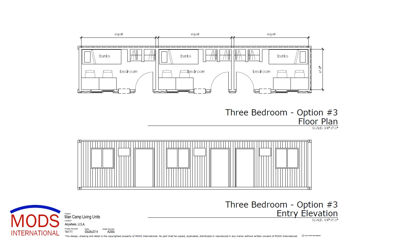 MODS Man Camp Unit Floor Plan