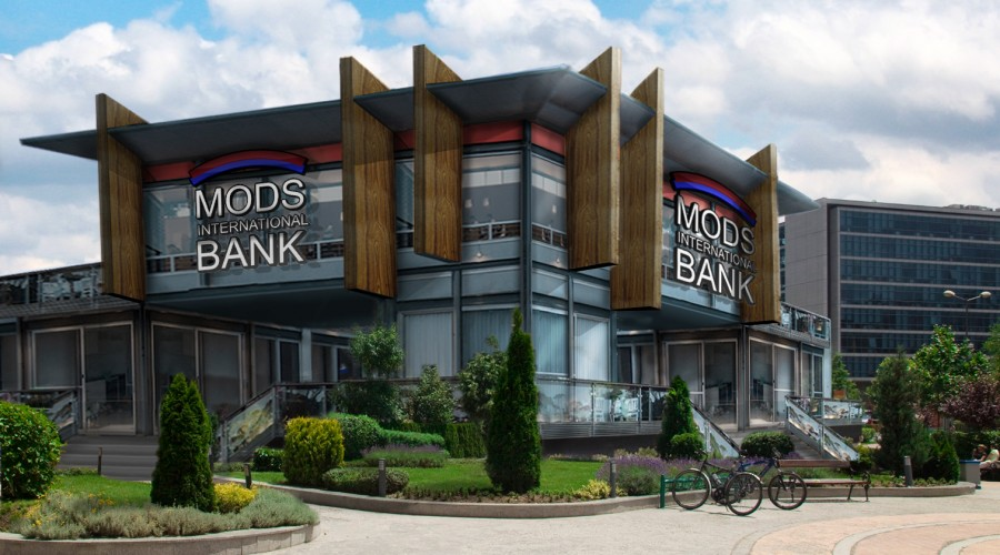 MODS International Shipping Container Bank Concept