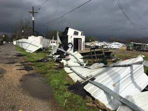 storm damage to trailers