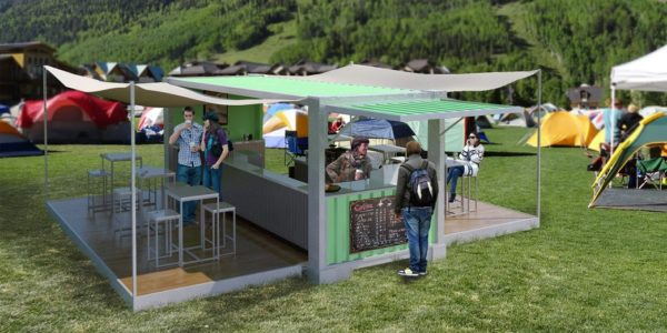Pop Up Container Cafe