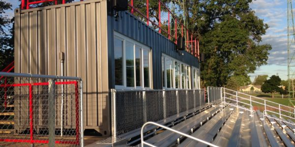 shipping container press box